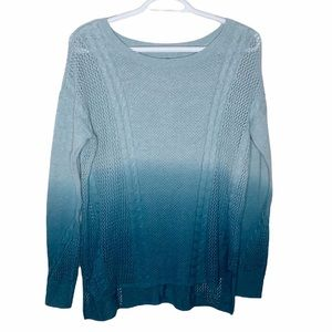 American Eagle Outfitters ombré cable knit sweater size XS